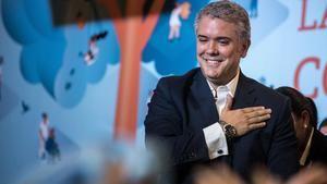El presidente electo de Colombia, el uribista Iván Duque.