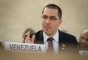 Canciller venezolano, Jorge Arreaza.