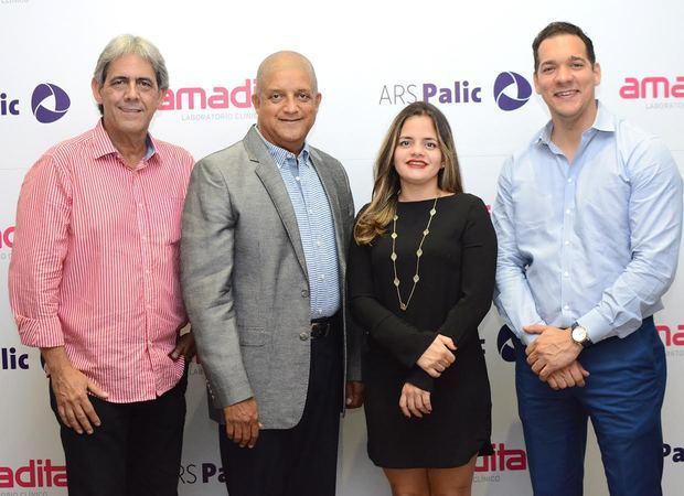 Paul Martínez, Radalme Peña, Natacha Quiterio y Raúl Abreu.