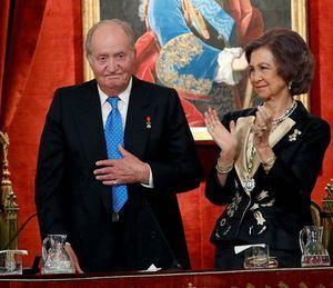 El Rey Juan Carlos junto a su esposa, Sofía de Grecia.