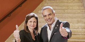 Vicepresidenta Raquel Peña junto al presidente electo Luis Abinader.