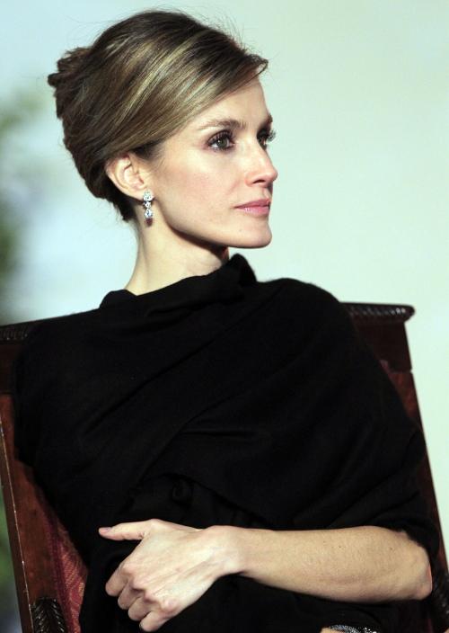 Peinados recogidos de la reina letizia