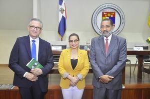 Victor Grimaldi, Alejandra Valerio y Mariano Rodríguez.