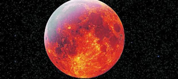 """Prepárate, la noche del 20 de enero nos bañará una """"superluna de sangre del lobo"""""""