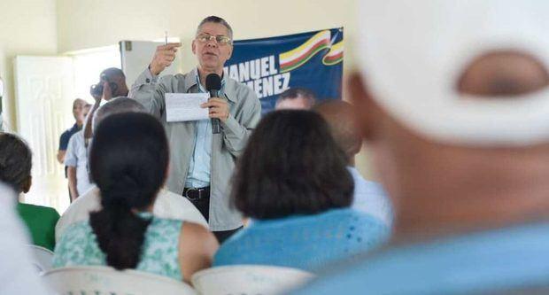 El candidato a alcalde por el PRM Manuel Jiménez hará marcha el sábado