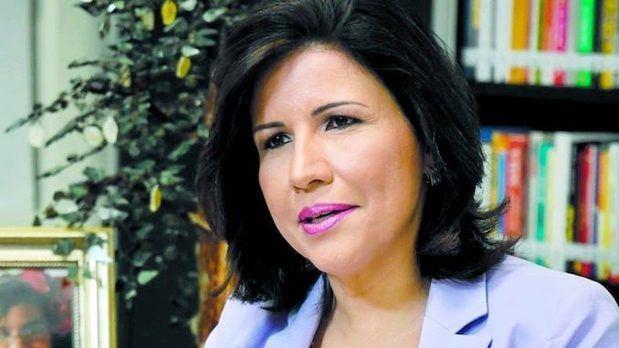vicepresidenta de República Dominicana, Margarita Cedeño, pidió este miércoles el voto para su esposo.