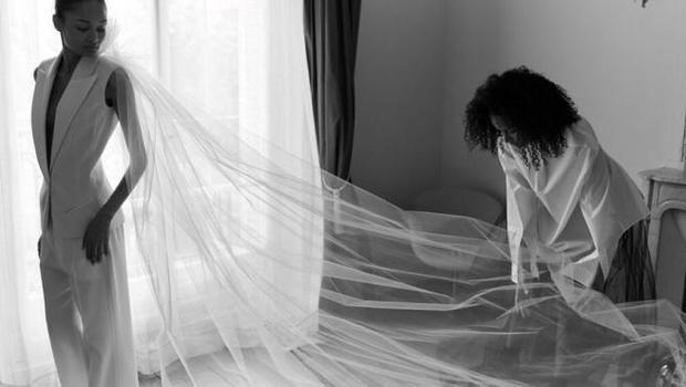 Fotografía de la colección de Alta Costura de la diseñadora Bouchra Jarrar, que ha presentado de manera virtual dentro de la Semana de la Alta Costura de París.