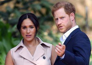 El príncipe Enrique y su esposa, Meghan Markle.