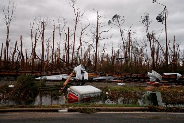Estragos del huracán Michael