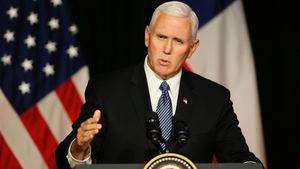 Vicepresidente de EE.UU., Mike Pence, renovó este martes el 'firme' compromiso del Gobierno de Donald Trump.