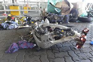 Dirección General de Aduanas, DGA, descubrieron ocho motocicletas de alto cilindraje y un four wheel que no fueron declarados y entre ellos, algunos robados.