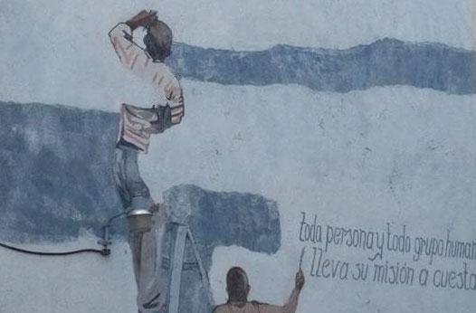 Utesa restaurará el mural del artista Ángel Haché