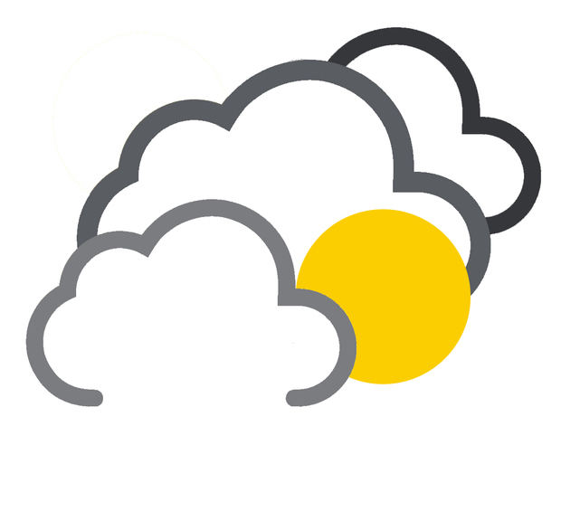 Algunos nublados con chubascos locales en la tarde por incidencia del viento