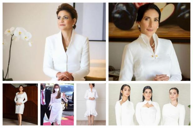 Los diseños moda que brillaron durante la toma del acto de posesión.