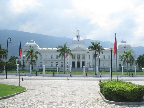 Fachada del Palacio Nacional de Haití.