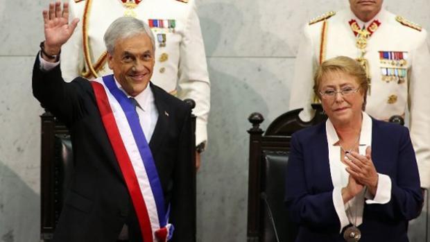 Cambio de mando entre Bachelet y Piñera