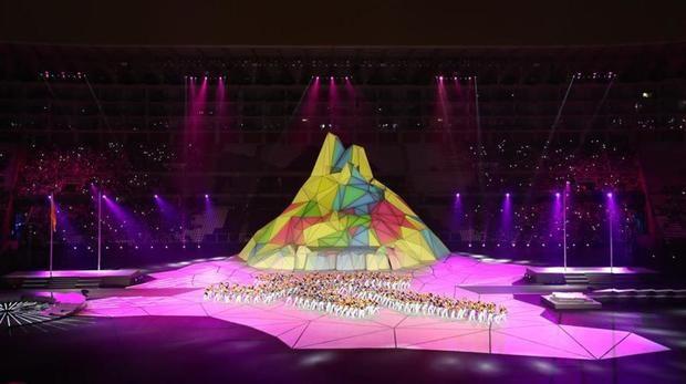 Ceremonia inaugural de los Juegos Panamericanos de Lima, en el Estadio Nacional de la capital peruana.