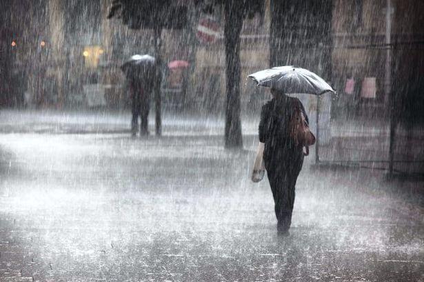Aumento de precipitaciones por vaguada