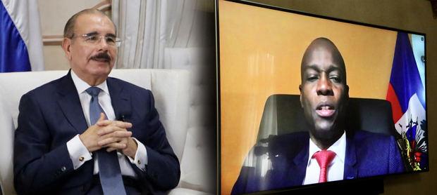 Presidentes dominicano y haitiano hablan de armonizar medidas por la pandemia.