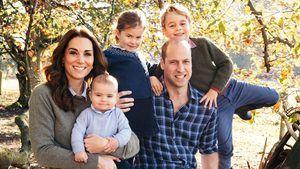 Príncipe William junto a su esposa Kate y los príncipes George, Charlotte y Louis.