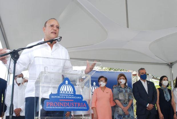 Ulises Rodríguez, habló durante un acto que encabezó el presidente Luis Abinader en el parque industrial de Salcedo.