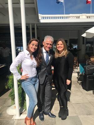 Lily Gómez, Roberto Cohen y Ana Laura Morales.