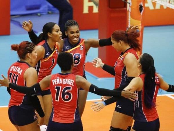Sexteto de RD consigue su primer triunfo en Mundial de Voleibol Femenino