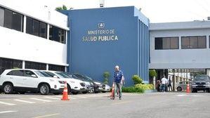 Fachada del Ministerio de Salud Publica.