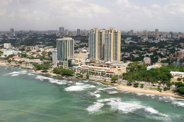 Vista parcial de la ciudad de Santo Domingo.
