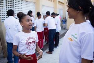 En el pais la actividad se llevó a cabo en la escuela 24 de Abril.