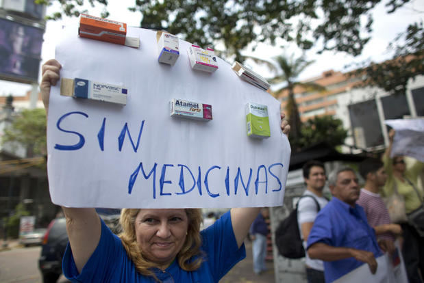 Médicos se manifiestan en Venezuela.