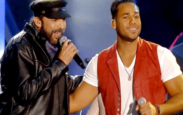 """Romeo Santos y Juan Luis Guerra cantando a duo """"Carmín"""""""