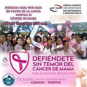 Hospital Moscoso Puello sale a las calles a orientar sobre el cáncer de mama