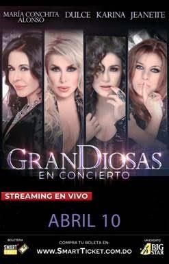 Afiche del el exitoso show musical 'GranDiosas'