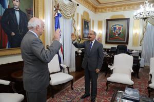 Juramentación en el Palacio de Gobierno