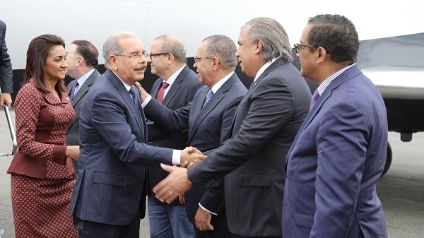 Danilo Medina llega a Estados Unidos para el 73° período de sesiones de la Asamblea General de la ONU