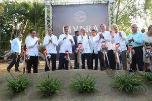 El ministro de Turismo  acto de inicio de construcción del complejo Infiniti Punta Cana.