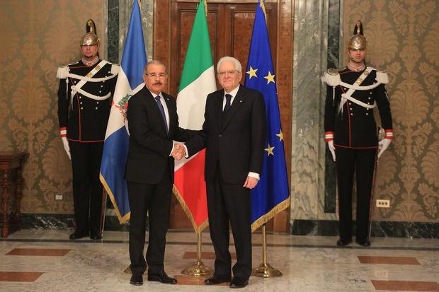 Presidente italiano Sergio Mattarella recibe y ofrece almuerzo a Danilo Medina