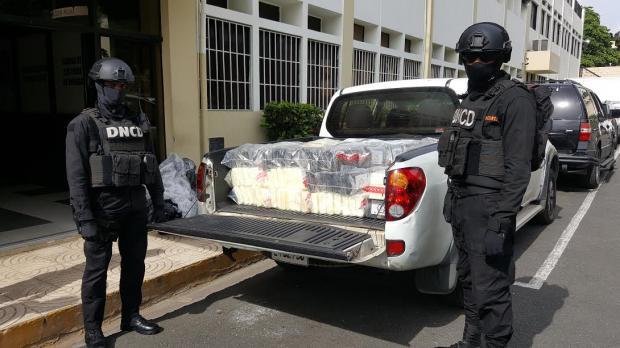 DNCD ocupa 341 paquetes presumiblemente cocaína en Puerto Caucedo