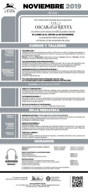 Programa de actividades mes de noviembre.
