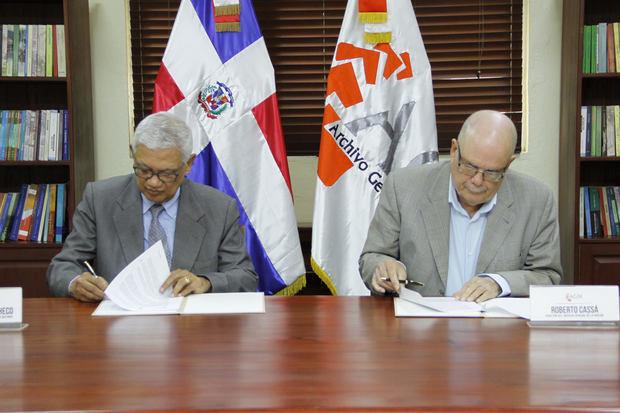 Archivo General de la Nación y la Academia Dominicana de la Historia firman convenio colaboración