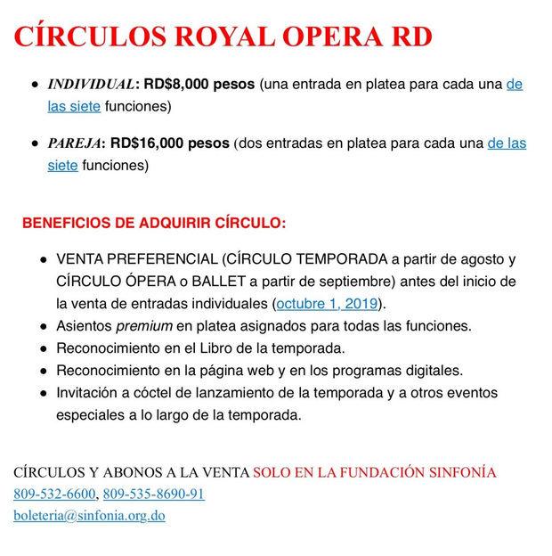 Alianza Royal Opera House RD presenta Don Giovanni