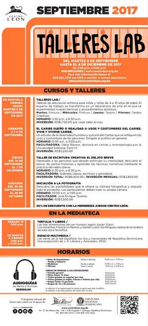 Centro León: Programa de Actividades de septiembre 2017