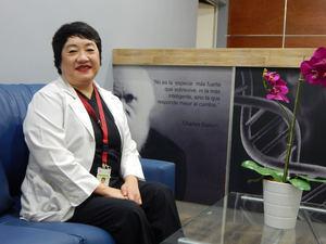 La doctora Yun Zyong Kim, gerente de Nutriología Clínica del Hospital Pediátrico Dr. Hugo Mendoza.