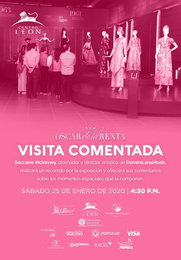 "Centro León visita exposición ""Ser Oscar de la Renta "" este sábado 25"