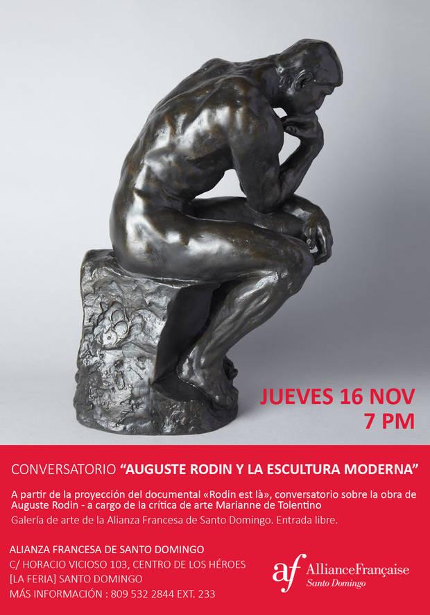 """Este jueves 16 conversatorio """"Auguste Rodin y la escultura moderna"""" en la Alianza Francesa"""