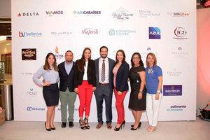 Erika Espinal, Randy Frómeta, Grecia Berrido, Javier Alemany, Lissette Rosario, Karina Paredes y Wendy Rodríguez