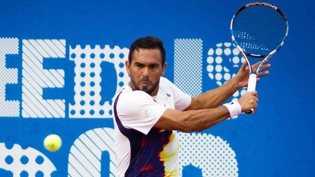 El tenista criollo Víctor Estrella Burgos