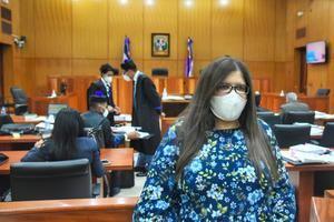 La testigo Carmen Nadiezka Álvarez, analista de la Procuraduría General de la República, PGR.