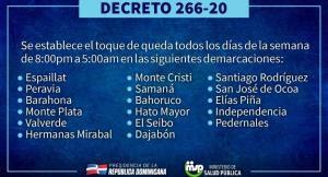 Conoce El Horario Del Toque De Queda En La Republica Dominicana Diariohispaniola L Un Digital A Tu Alcance